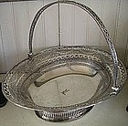 English Sheffield Fused Silver Plate Cake Basket, 1810