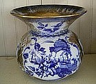 English Doulton Type Earthenware Spitton, c. 1880