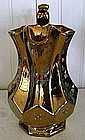 English Pottery Copper Lustre Footed Jug, c. 1840