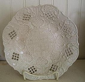 English Saltglaze Pottery Plate, c. 1755