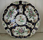 English Worcester Porcelain Scalloped Edge Plate, 1770