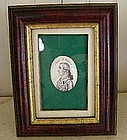 Handpainted Enamel Miniature on Copper, Brig. Gen Reed