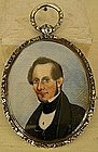 Handpainted Miniature on Ivory of Gentleman, c. 1805