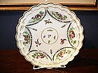 English Worcester Porcelain Deep Plate, c. 1770