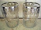 Pair of Silver Overlay Glass Tumblers, c. 1920-30