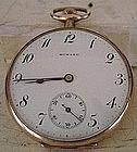 E Howard Watch Co. Open Face Gold Filled Pocket Watch
