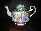 Chinese Export Porcelain Famille Rose Tea Pot, c. 1830