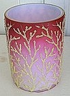 Webb Shaded Pink Cased Mother of Pearl Glass Tumbler