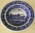 Baltimore & Ohio Railroad Blue & White Butter Pat, 1930