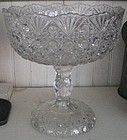 Early American Pattern Glass Compote, c. 1880