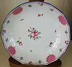 English Minton Porcelain Deep Saucer Dish, c. 1795