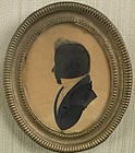 American Hollow Cut Silhouette by Chamberlain, c. 1810