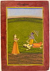 SOLD INDIAN MINIATURE PAINTING