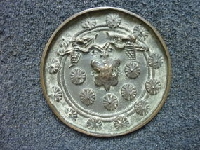 JAPANESE BRONZE MIRROR 16th CENTURY