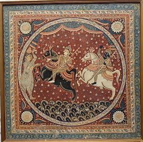 INDIAN PAINTING OLD ORISSA PURI IMAGE ON CLOTH