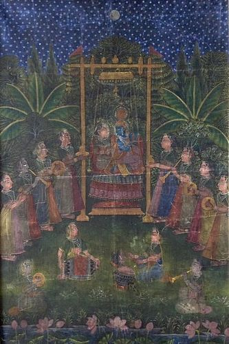 INDIAN  PICCHAVI CLOTH PAINTING