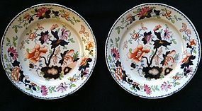 Pair of Tonquin Ironstone plates c.1825