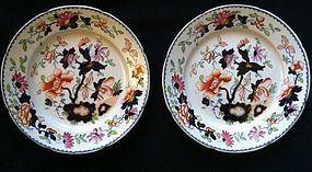 Pair of Tonquin Ironstone plates c.1825