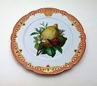 Paris porcelain dessert plate c.1870 Ch.Pillivuyt