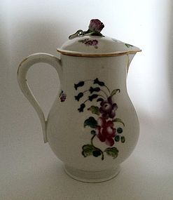 Mennecy milk jug and cover c.1760