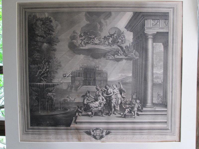 Large Engraving The Toilet of Venus 1672