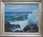 �Surf at Loblolly Cove� oil by Stanley Woodward c. 1949
