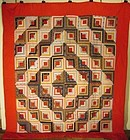 American Log Cabin quilt early 20th century