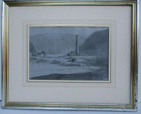 Lear, Edward attributed sketch Glendalough Ireland c. 1835