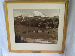 Large photo MT. RAINER � TIPSCO LAKE 20th century.