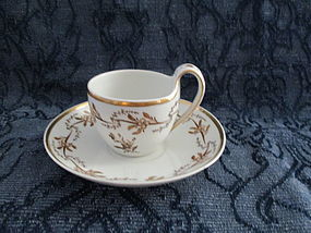 Furstenberg porcelain cup and saucer early 19th century