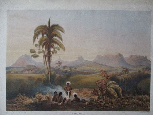 Lithograph Roraima Guyana 1840 published London