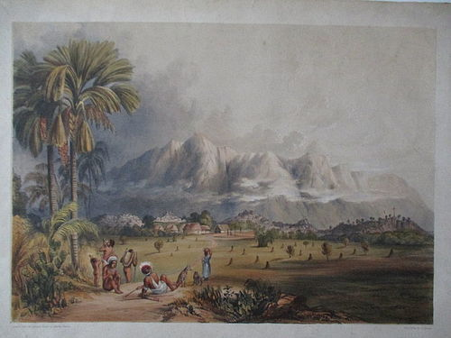 Lithograph Esmeralda on the Orinoco published London 1841