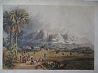 Lithograph Esmeralda on the Orinoco published London 1841