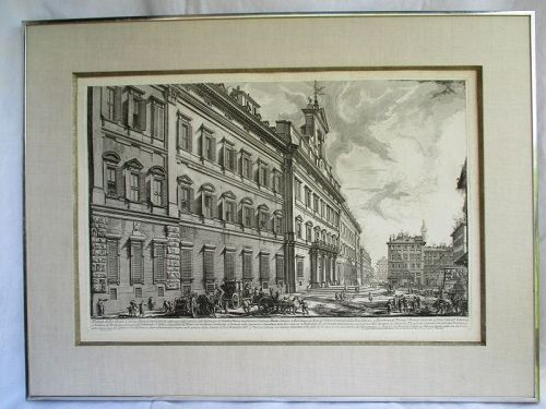 Large Piranesi etching from the Views of Rome 1752