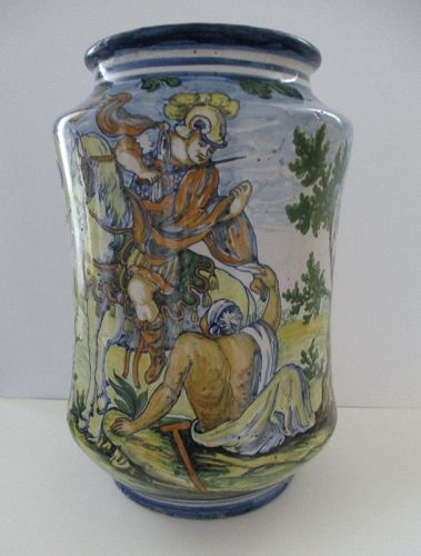 Large Albarello (drug jar) St. Martin Monastery Naples 19th century
