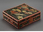 japanese carved lacquer box