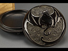 incense lacquered box with 3 bats