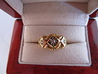 Three Diamond and 18k Chester 1915 Ring