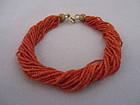 Tiny Coral Bead Bracelet