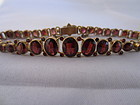 Rose Cut Garnet Bracelet