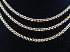 French 18k Yellow Gold Triple Strand Chain Necklace