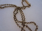 Art Nouveau 18k Yellow Gold Double Link Chain