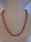 Victorian Salmon Coral Beads