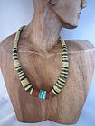 Multi-Colored Native American Slice Necklace