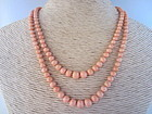 Natural Coral Double Strand Necklace