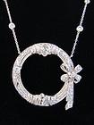Platinum & Diamond Circle Pendant