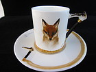 "Signed ""Reynard the Fox"" Demitasse Cup & Saucer"