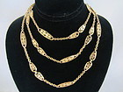 18k Yellow Gold French Filigree Chain