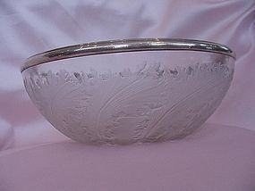 R. Lalique Bowl with Leaves