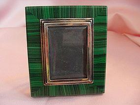 Malachite 800 Silver Picture Frame